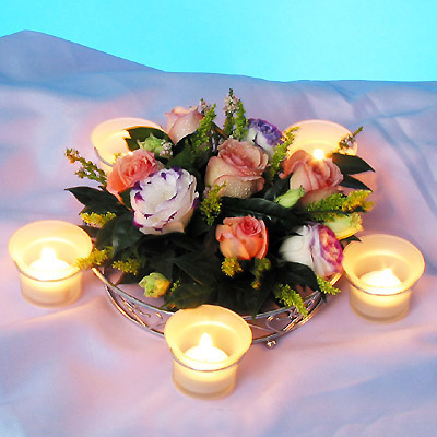 Centre - Piece, round with 5 candles